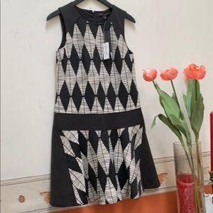 Banana Republic Black White Dress size 2 new